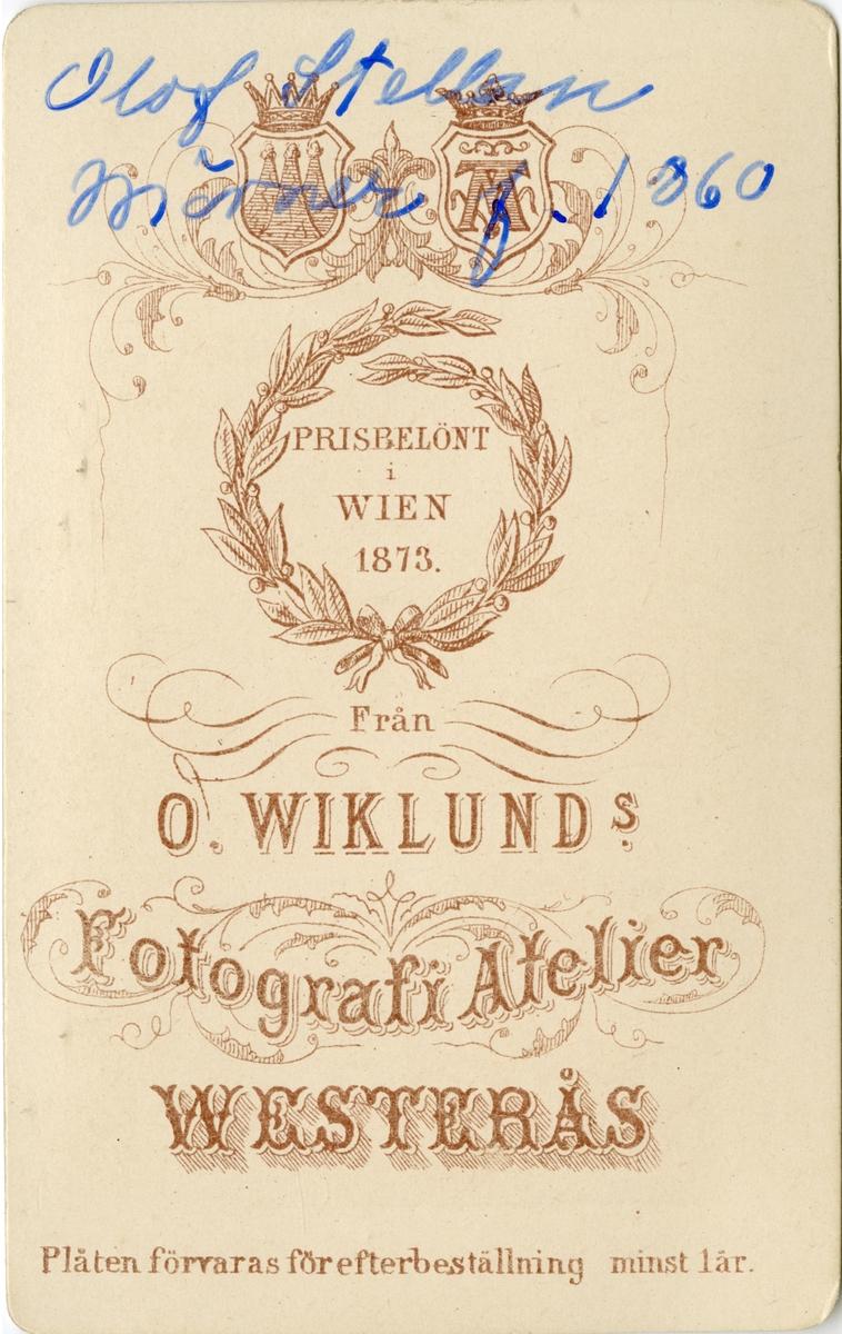 Porträtt av Olof Stellan Mörner, underlöjtnant vid Kronprinsens husarregemente K 7. Se även AMA.0008067.