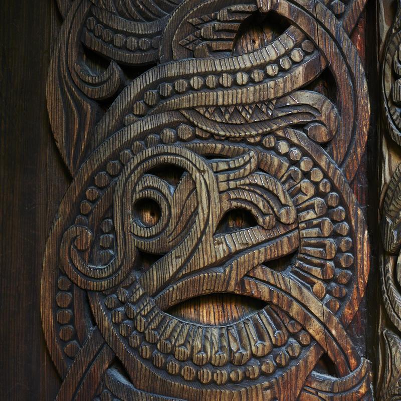 Detalj fra stavkirke på Norsk Folkemuseum (Foto/Photo)