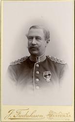 Porträtt av Ludvig Johan Casimir Lewenhaupt, kapten vid Livr