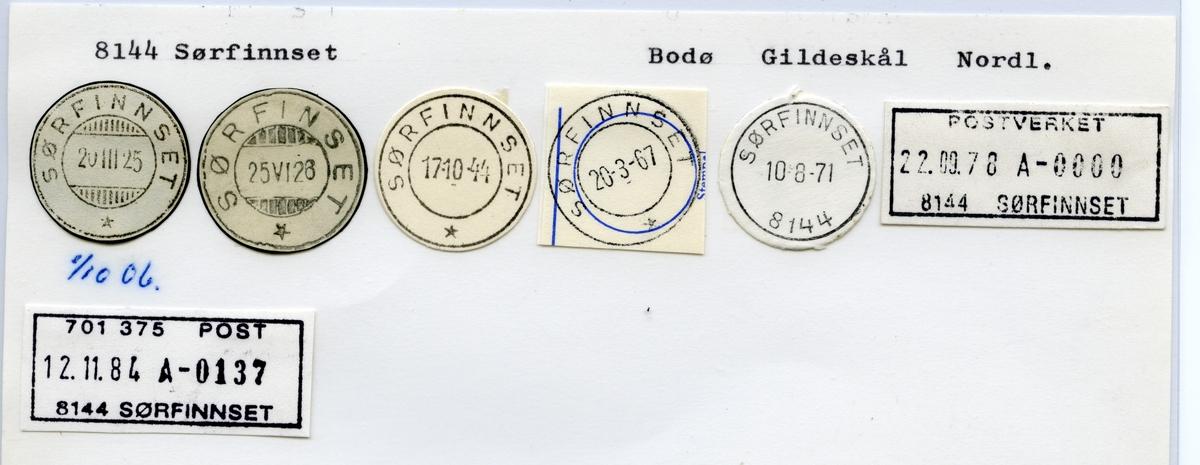 Stempelkatalog 8144 Sørfinnset, Gildeskål kommune, Nordland