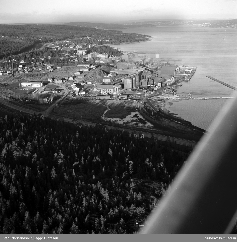 Flygfoto över Stockviksverken.