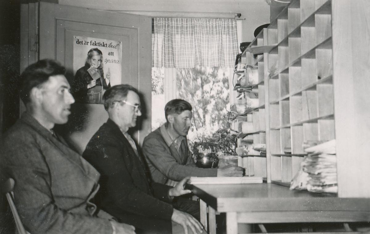 Poststationen Sunndals Ryr, interiör, 1954.