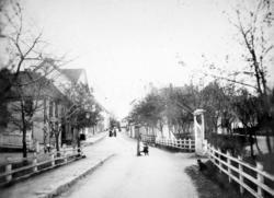 Bilde fra Parkveien på Kirkelandet i Kristiansund, som strak
