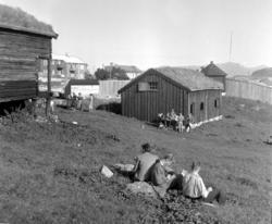 Almskårstua i Clausenenga før flytting til Knudtzondalen. Rø