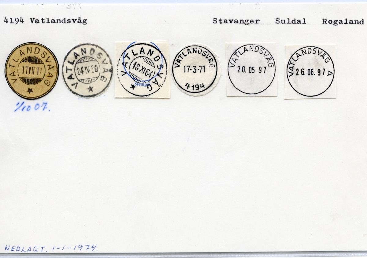 4194 Vatlandsvåg, Stavanger, Suldal, Rogaland