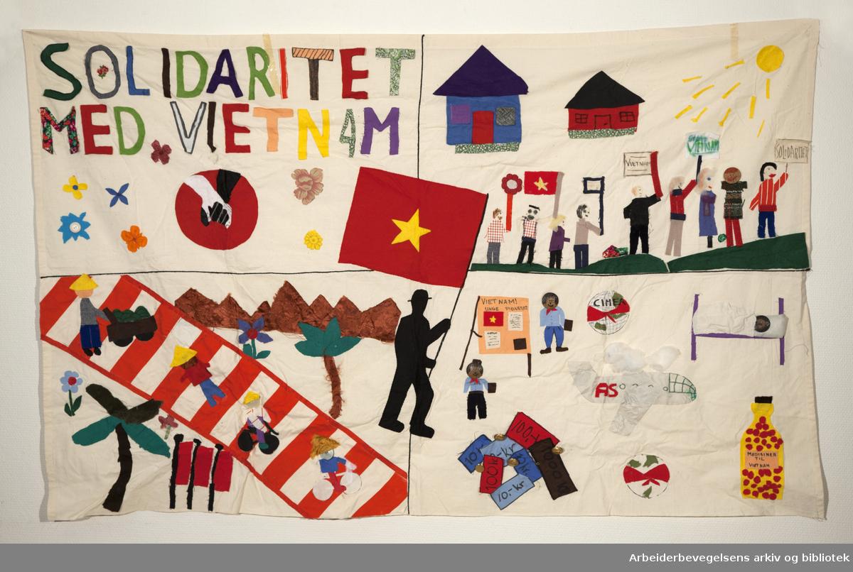Solidaritet med Vietnam..Fanetekst: Solidaritet med Vietnam