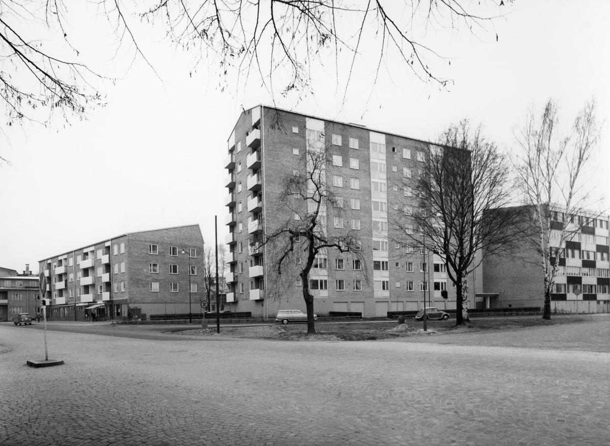 Serie med Karlstadbilder tagna under första halvan av 1960-talet. Åttkantsgatan i Haga