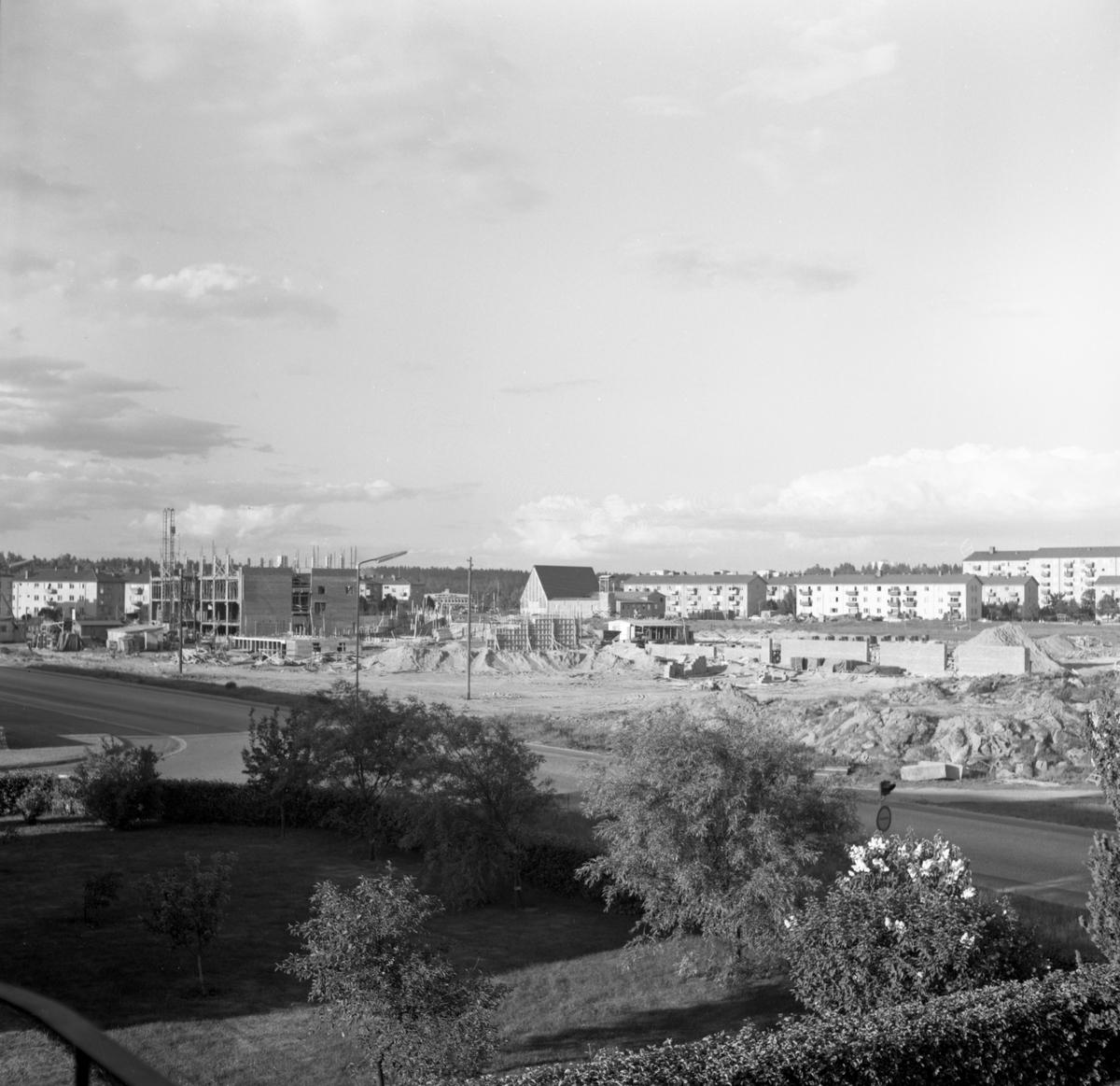 Det blivande Sundstagymnasiets bygge i juni 1959.