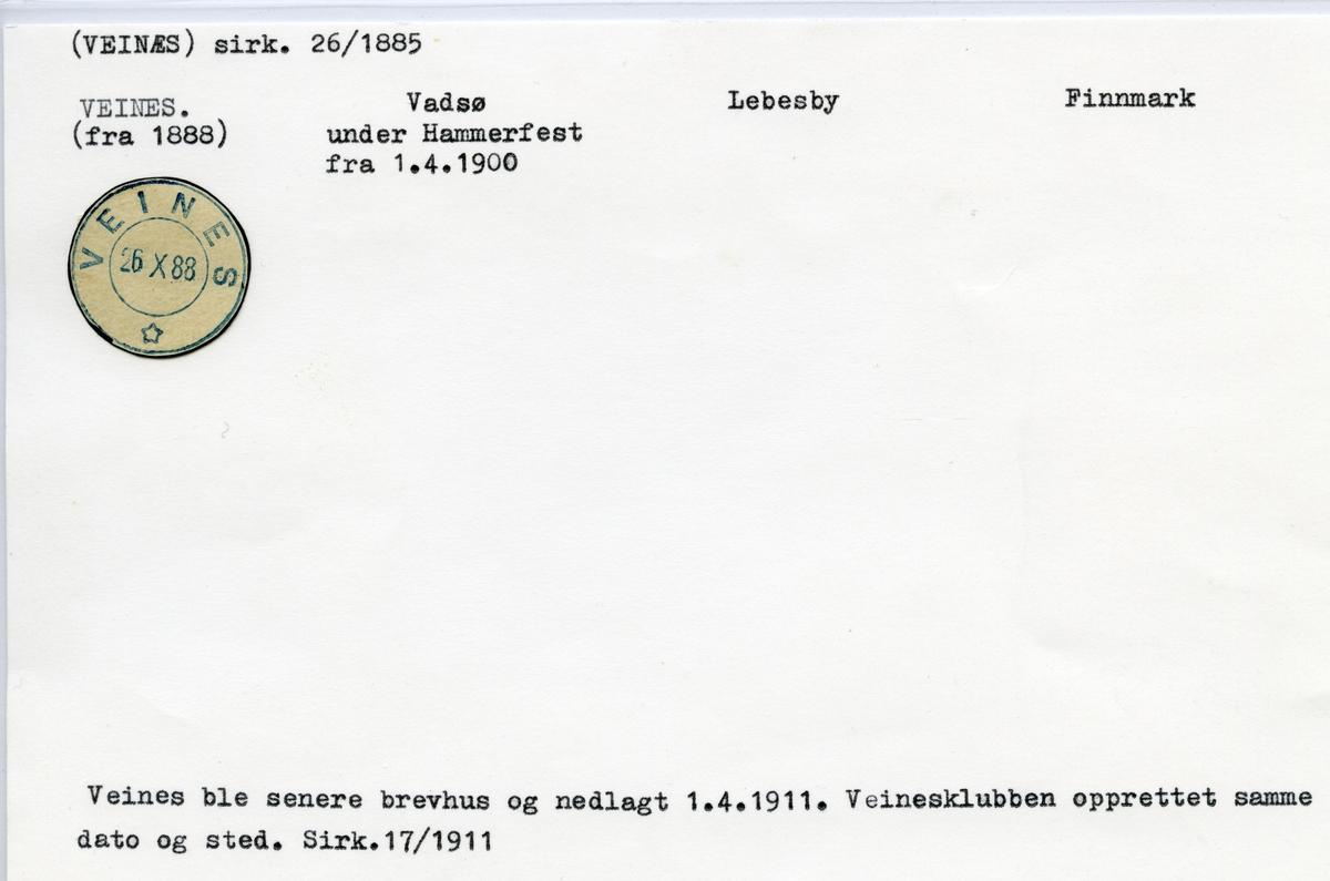 Veines, Vadsø, Lebesby, Finnmark
