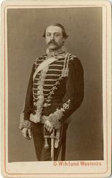 Porträtt av Emil August Rydin, löjtnant vid Skånska husarreg