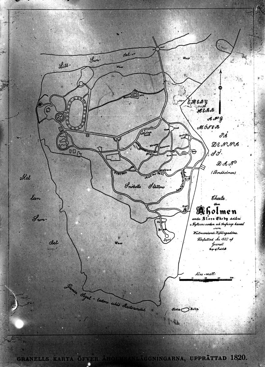 Karta, Åholmen 1820. Fotograf okänd.