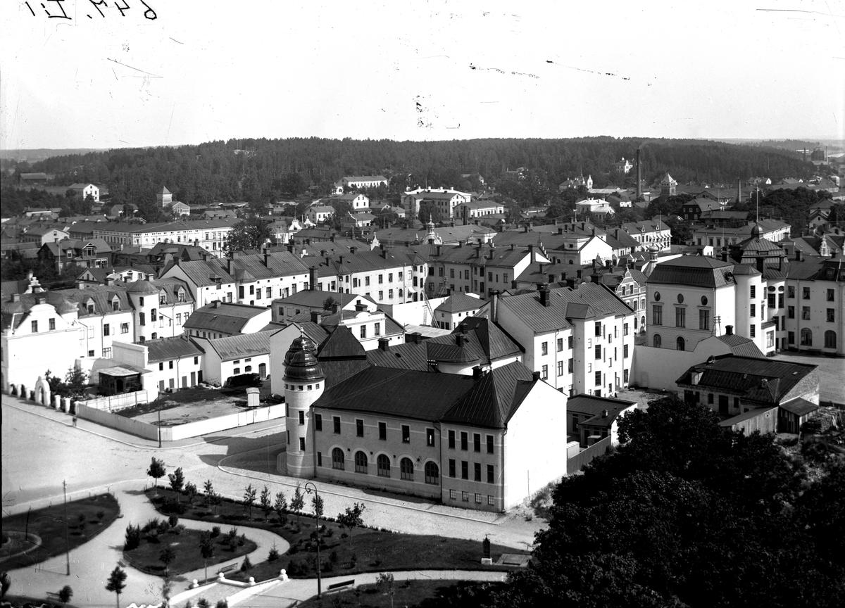 Utsikt från kyrktornet, 1900-1910.