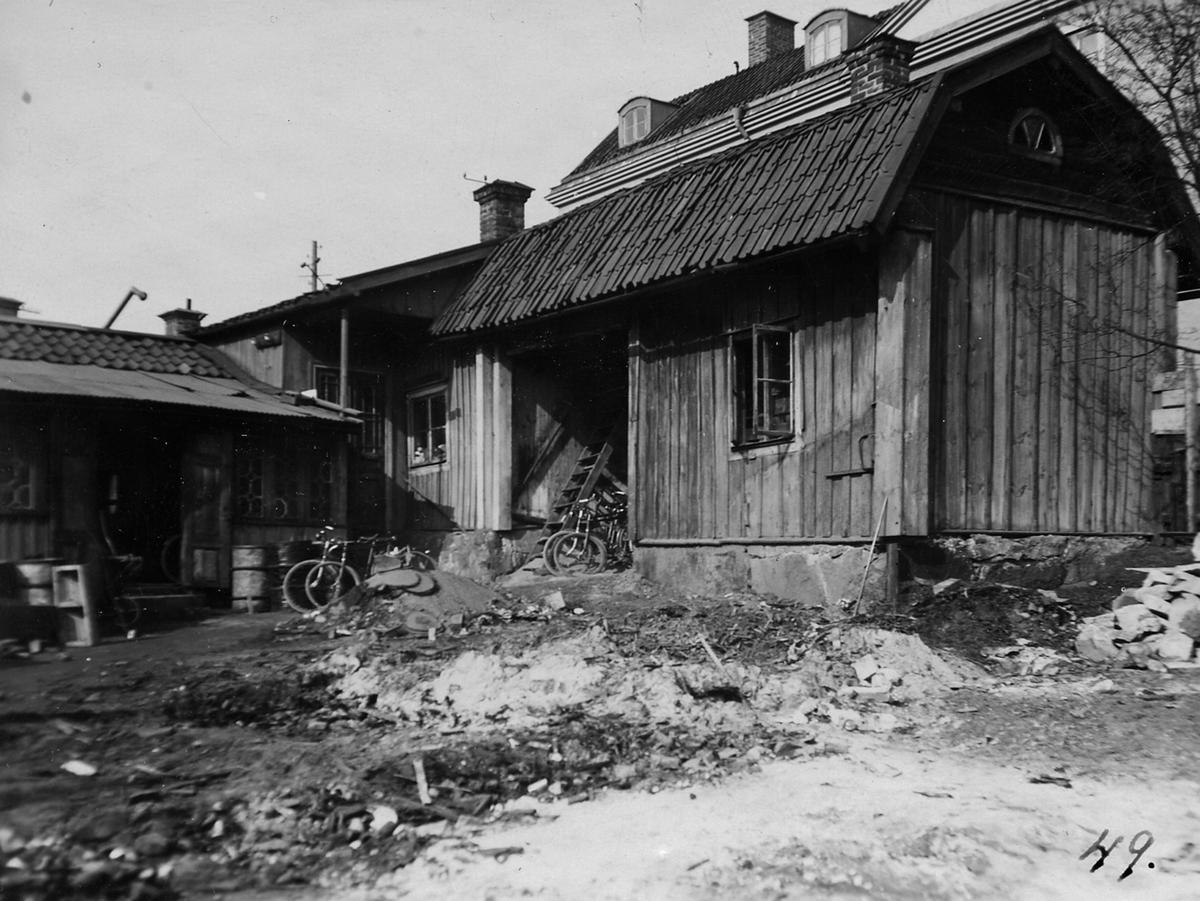 Gamla V. Långgatan 61, 1935. Gårdssidan.