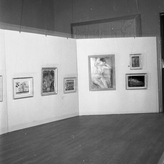SM utställning Edward Hald. 1957.03.