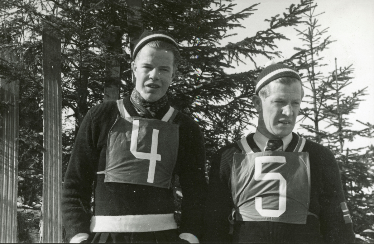 Brothers Asbjørn and Birger Ruud