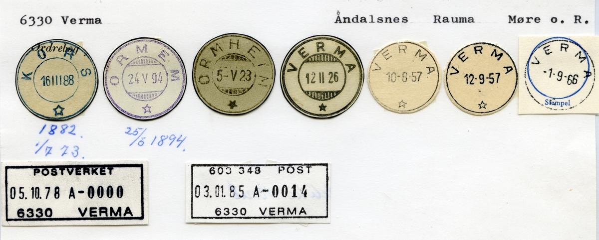 6330 Verma (Kors, Ormen, Ormheim), Åndalsnes, Rauma, Møre og Romsdal