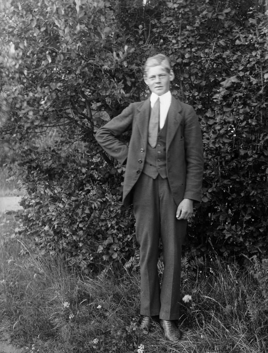 """Andersons son ensam"", Henrik Anderson, Billerstena, Altuna socken, Uppland 1921"