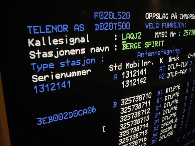 Radio- og kringkastingsstasjoner. Rogaland kystradio mottakerstasjon skjerm