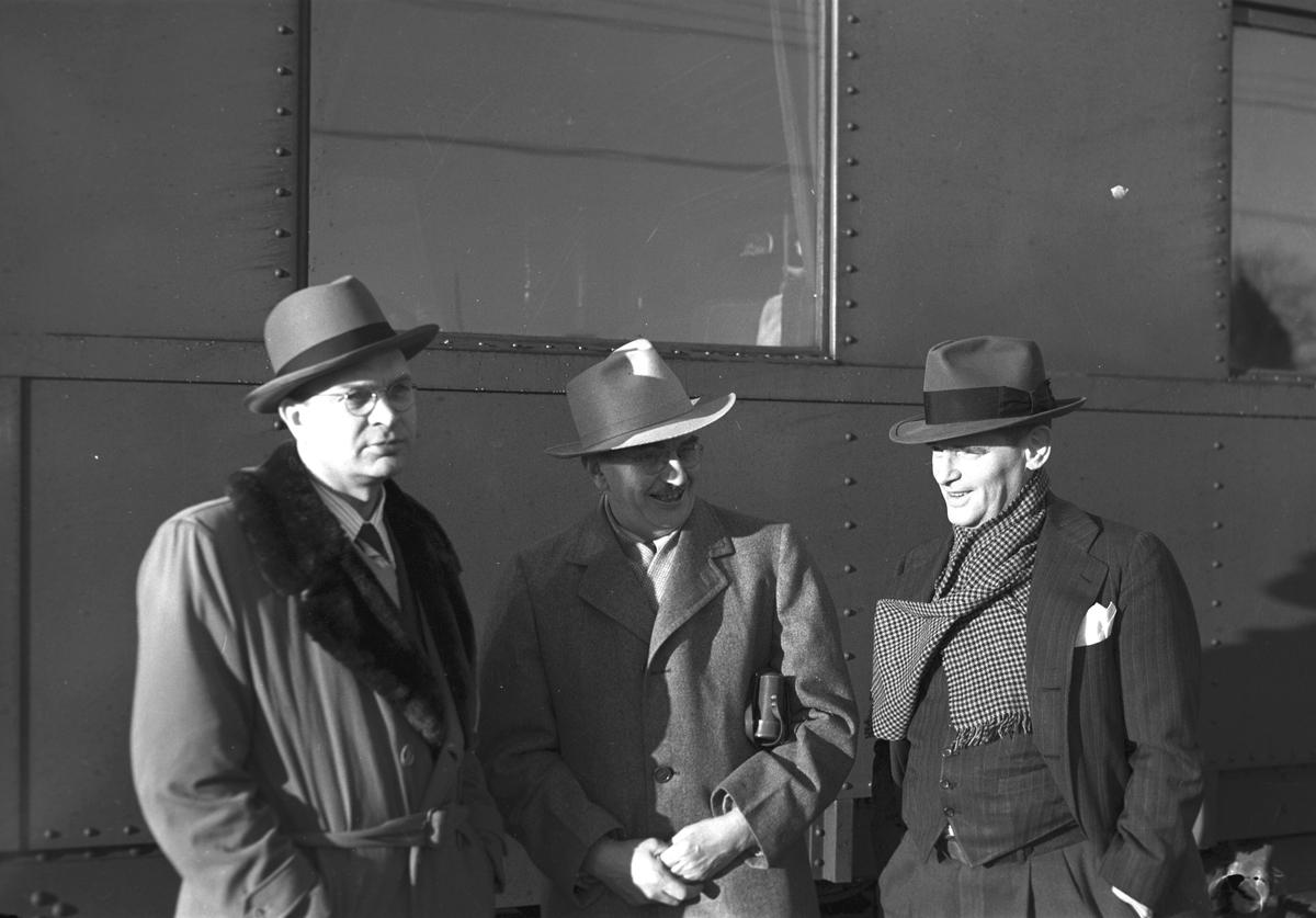 Amerikanska pressmän på sverige besök. 15 februari 1949. Reportage för Arbetarbladet.