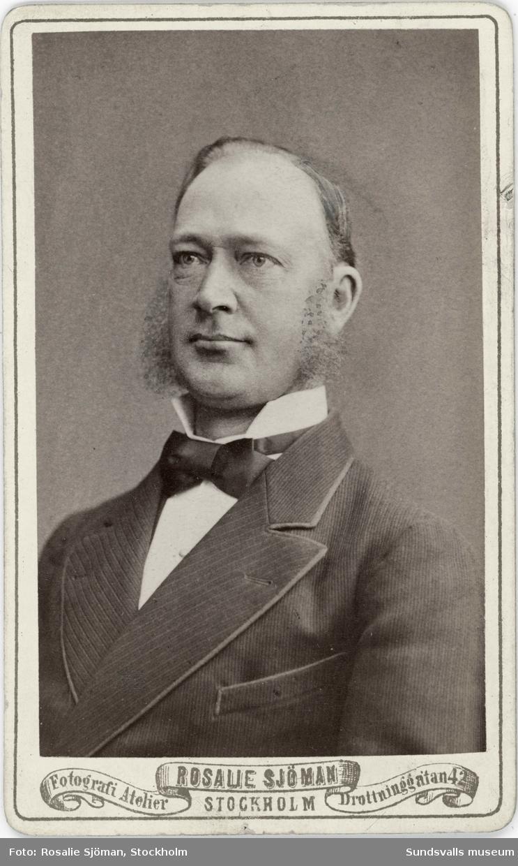Grosshandlare Jonas Johansson född i Sidensjö Ångermanland 1837-03-27. Han köpte 1880 en bjälkgrop i Johannedal och anlade där ett sågverk. Johansson var även aktiv i baptistförsamlingen och var för en period föreståndare för söndagsskoleverksamheten. Han avled 1890-05-18 i sviterna av en lunginflammation och efterträddes av sonen Gustaf Johansson (f. 1863), förövrigt svärfar till konstnärinnan Maja Braathen.