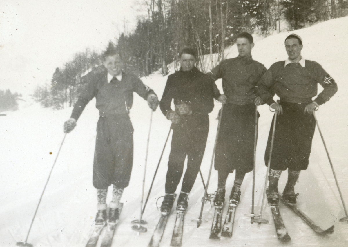 Norwegian athletes during French championship