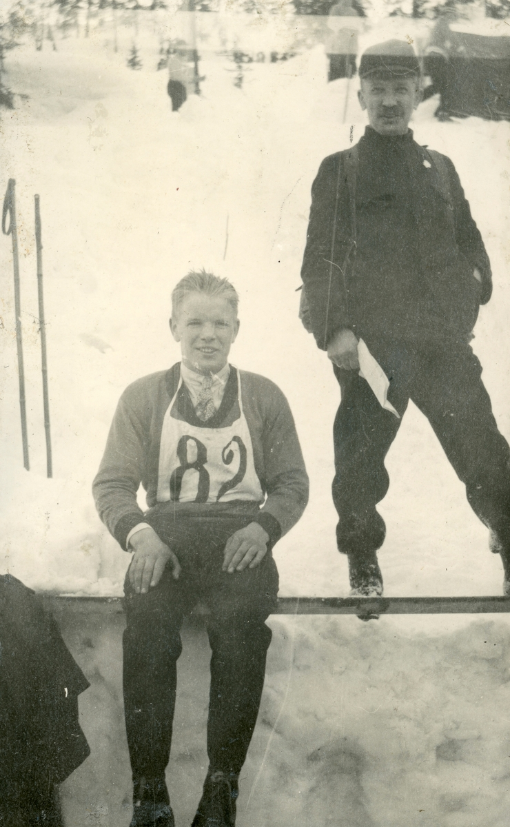 Athlete Sigmund Ruud with his father