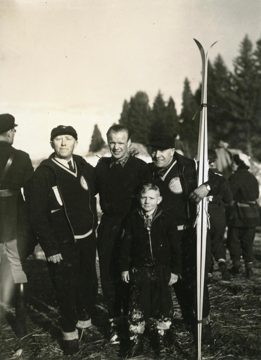 Athlete Sigmund Ruud wirh American friends