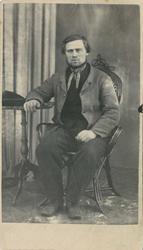 Fangeportrett. Emanuel Olsen, Drammen, arrestert i 1866 elle