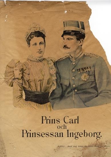 Prins Carl (1861-1951), prinsessan Ingeborg (1878-1958). Gifta 1897.