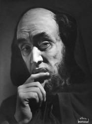 Porträtt av Holger Löwenadler som Shylock i föreställningen