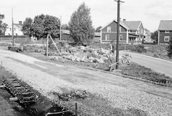 Utgrävning av skelettgrav. Byn Fors, Hille socken.