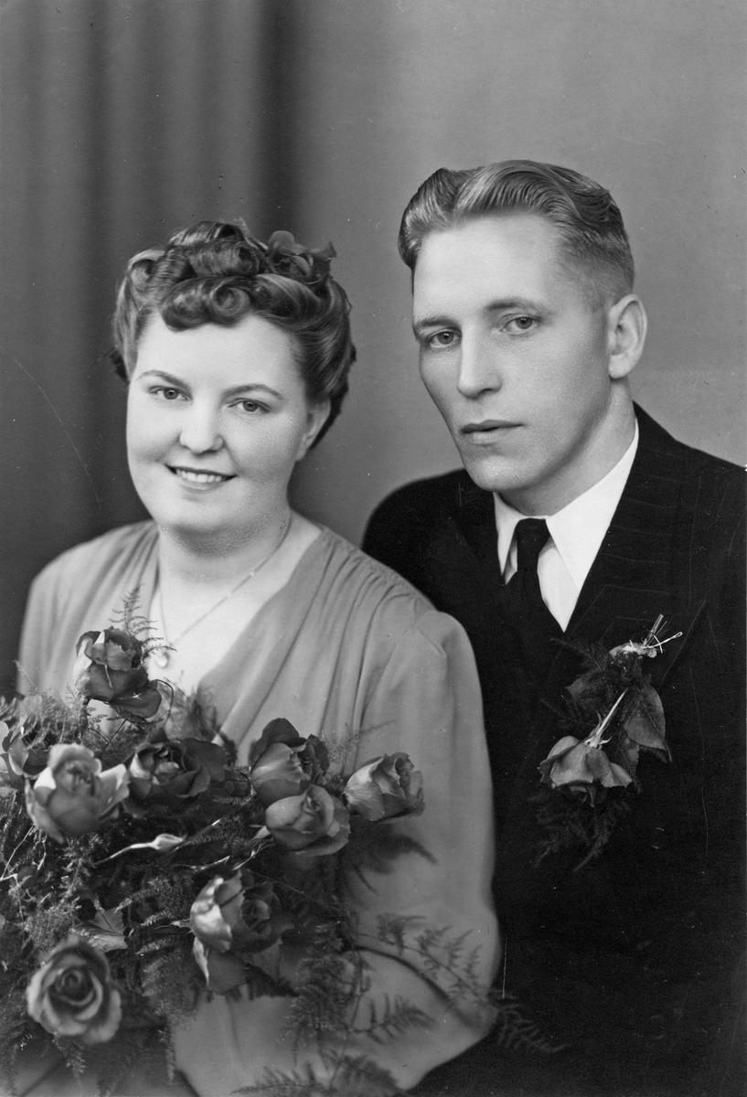 Bröllopsfoto Karin Hilding & Lennart Jansson.