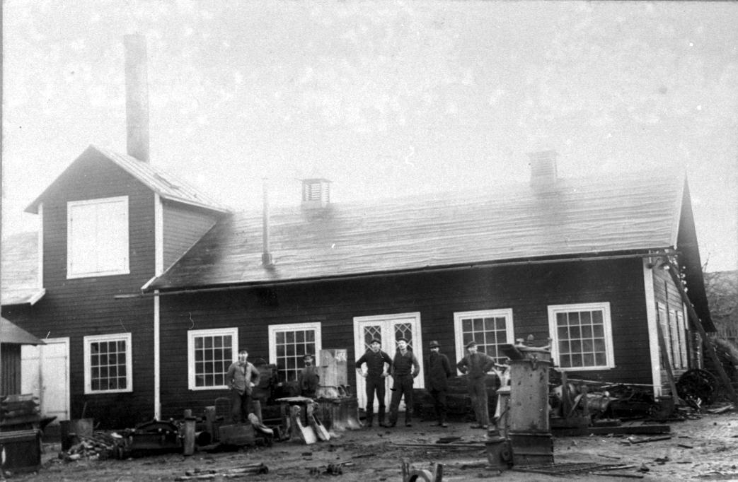 Nils Nilssons gjuteri, första byggnaden.