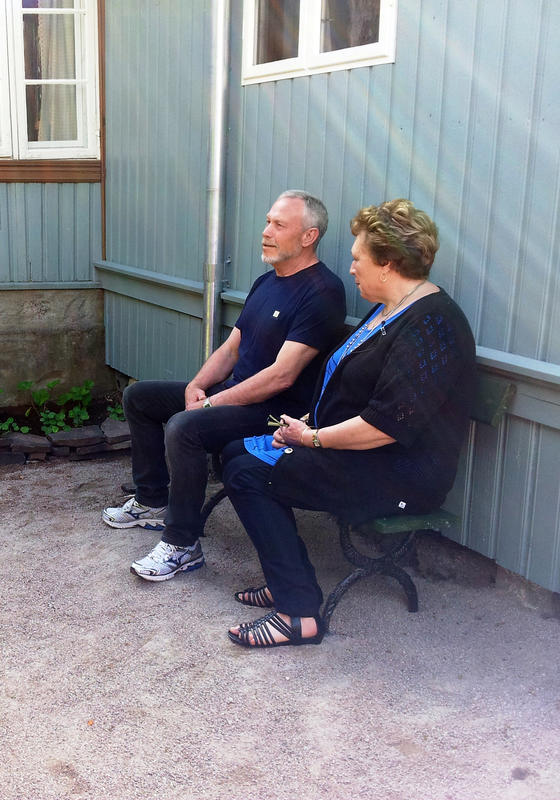 Jørn og Thorill Hilton  i Stupinngata 10 fra Enerhaugen på Norsk Folkemuseum  2012