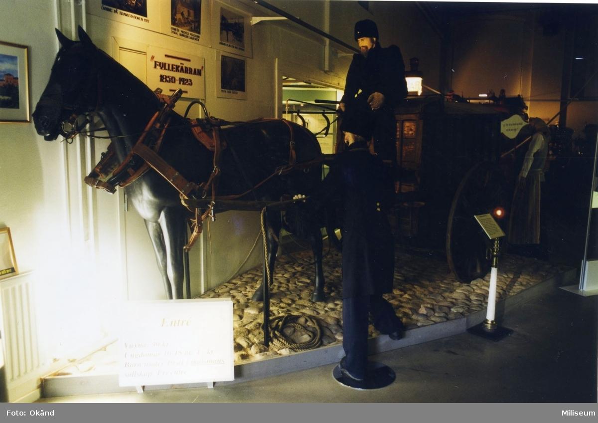 """Arrestkärran """"Fyllekärran"""". Försv.hist.muséet, Jkpg."""