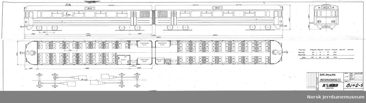 HØKA DHM-400 og 600 Motorvognsett Prosjekt, ikke realisert