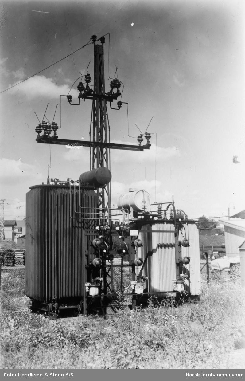 Transformator på Hokksund stasjon