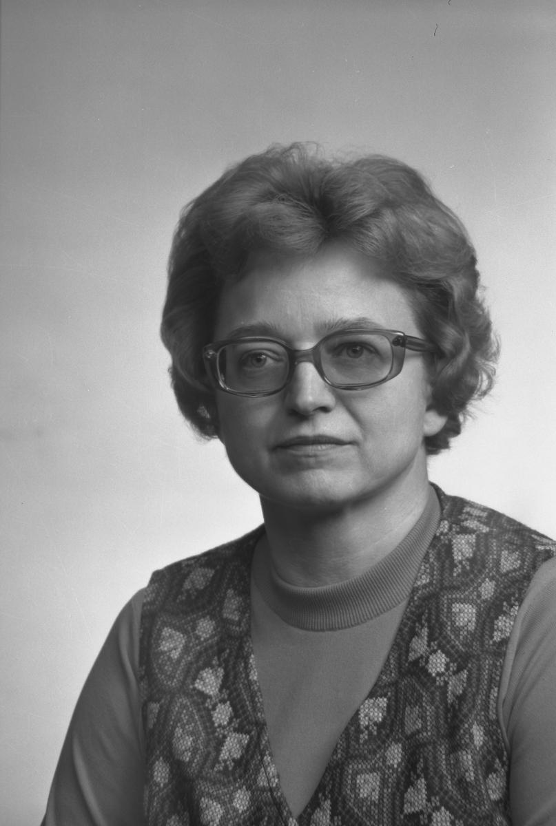 Inger Malm, Asmundsgatan 7, Gävle. Den 6 december 1971