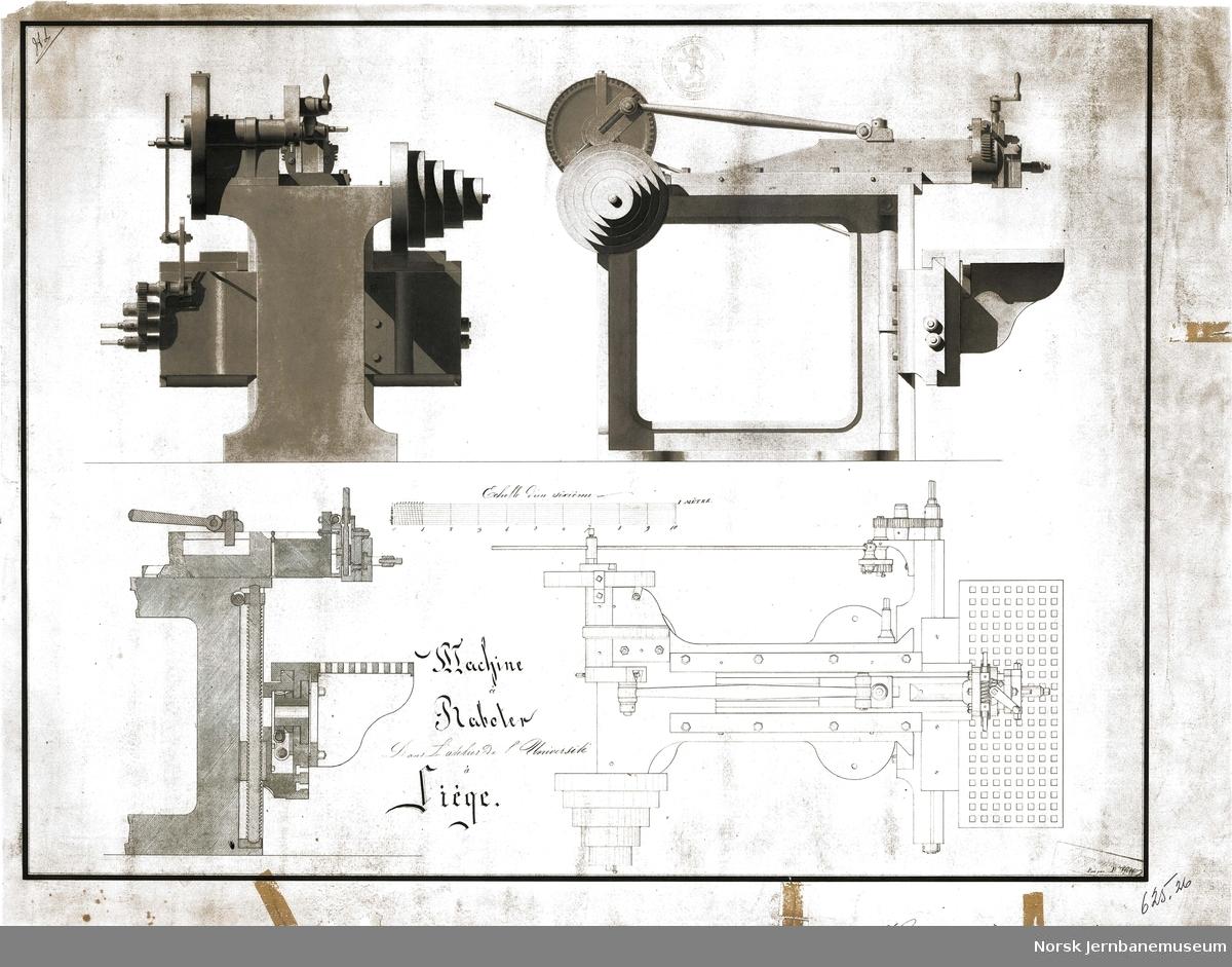 Hovedbanen - verkstedmaskin (tegning fra leverandør)