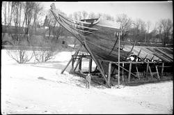Vraket av fregatten Stenbocken ble hevet og satt i land 1932