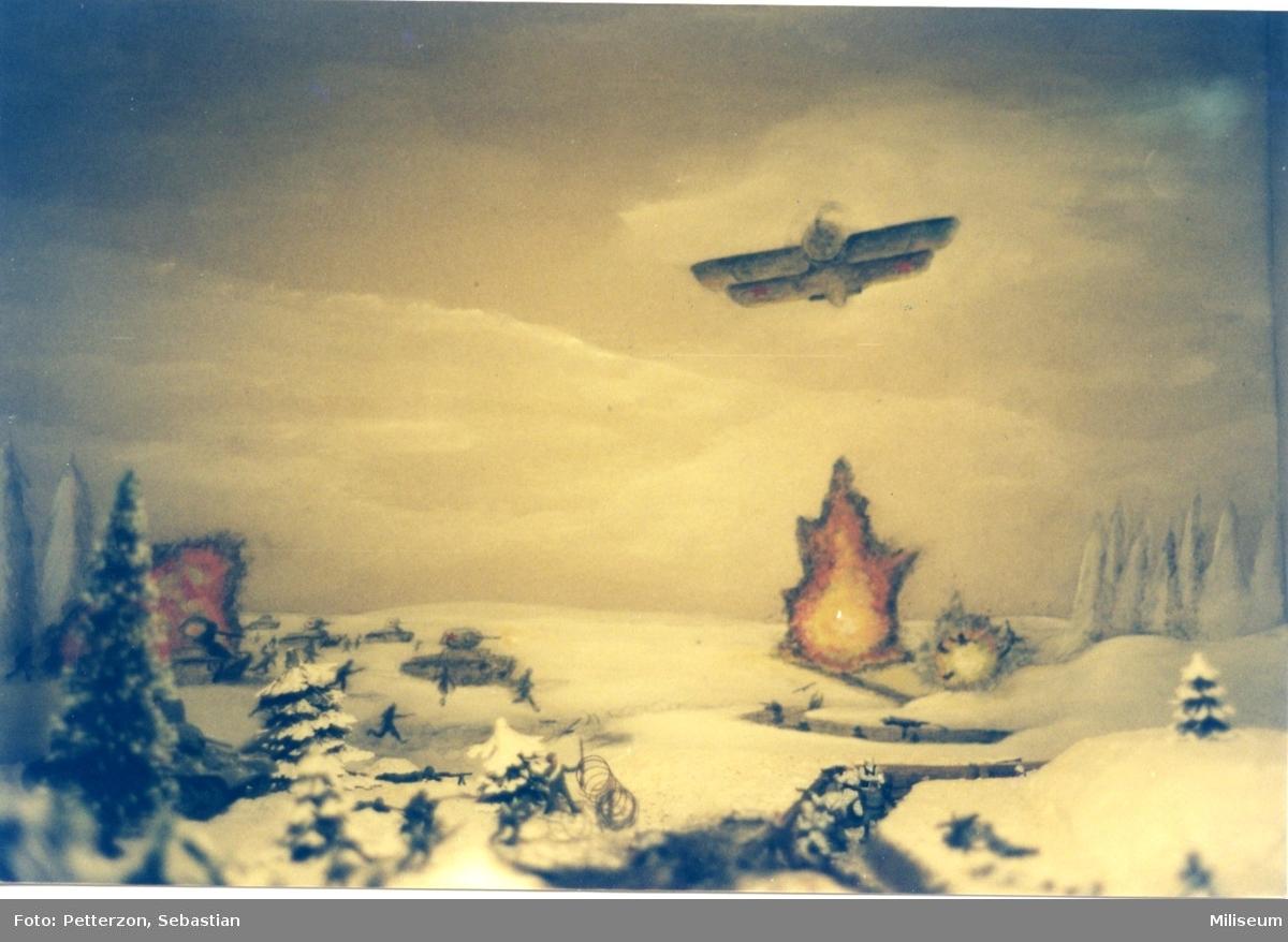 Försvarshistoriska muséet, Jkpg. Diorama: Finska vinterkriget.