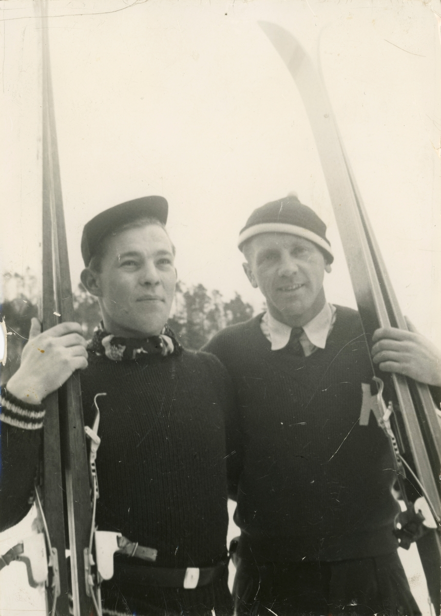 Skiers Arthurs Tokle and Sigurd Ulland