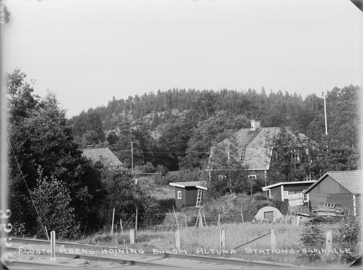 """""""Flosta åsens höjning bakom Altuna stationssamhälle"""", Altuna socken, Uppland 1923"""