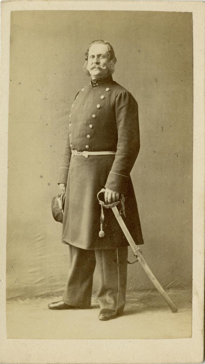 Porträtt av Lars Ludvig Carl Trafvenfelt, kapten vid Södermanlands regemente I 10.