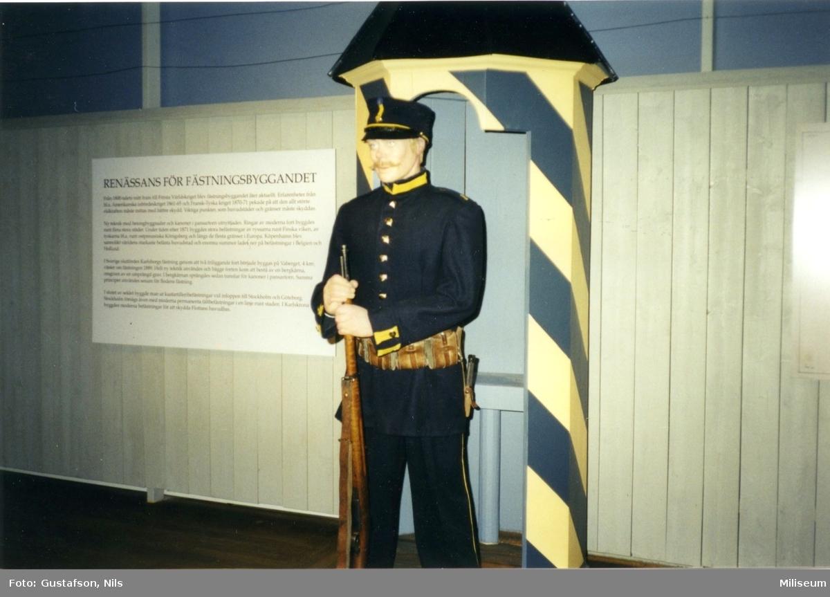 Armémuseum. Vaktkur. Vaktpost, uniform m/ä.