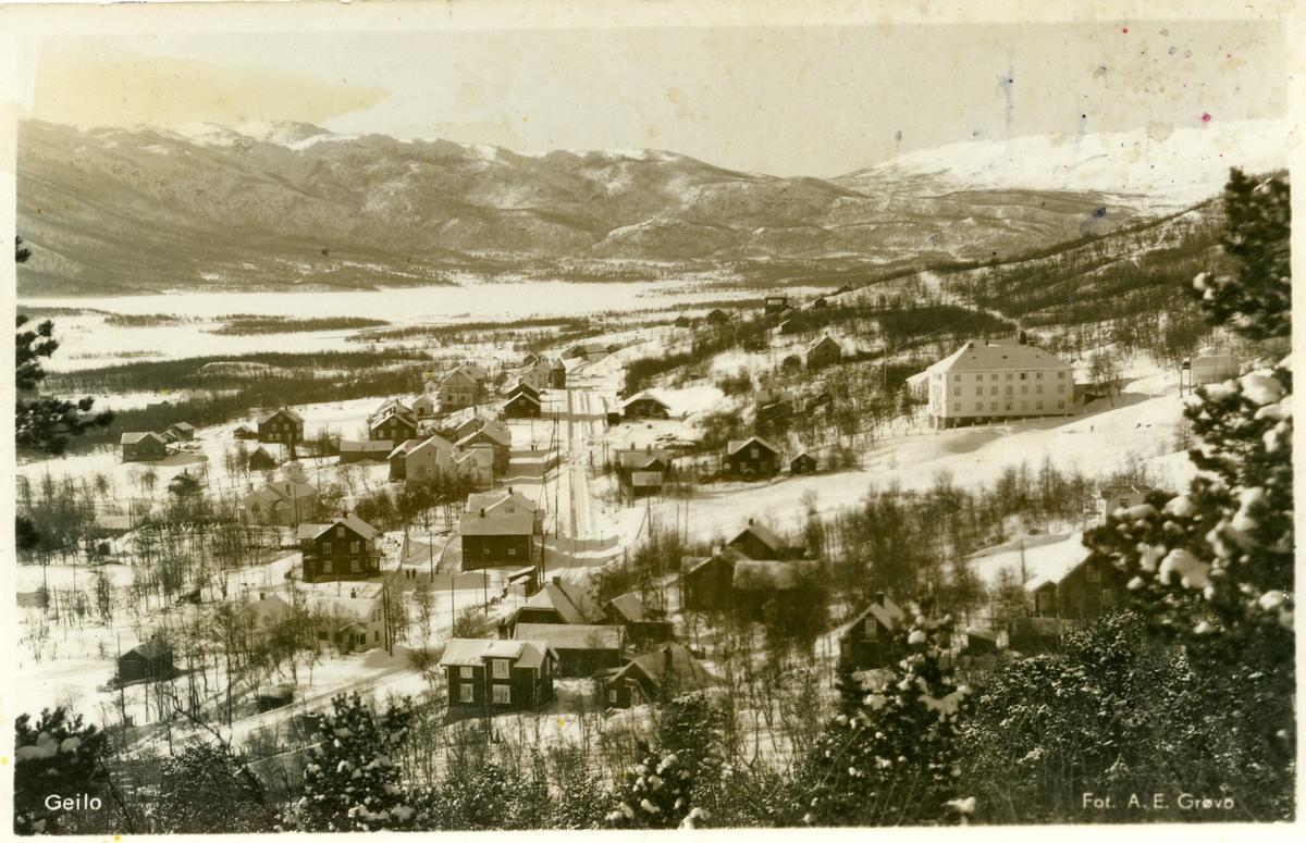 Postkort med motiv fra Geilo, Buskerud.