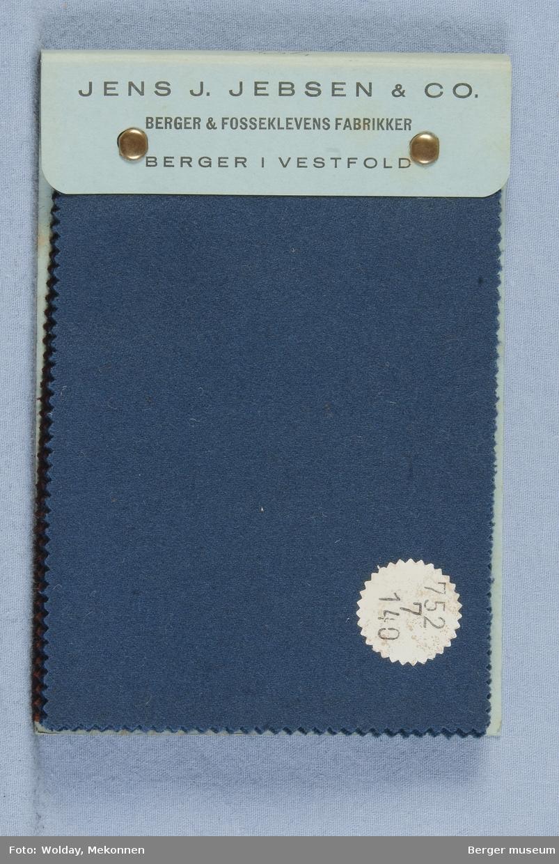 Prøvebok med 9 prøver Flanell Stykkfarget Kval. 752