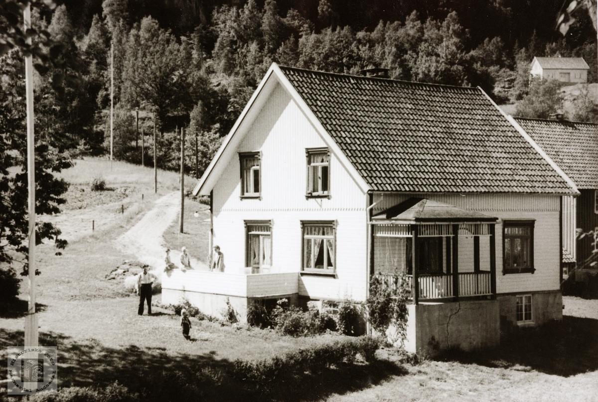 Barndomsheimen på ytre Øydna. Grindheim.