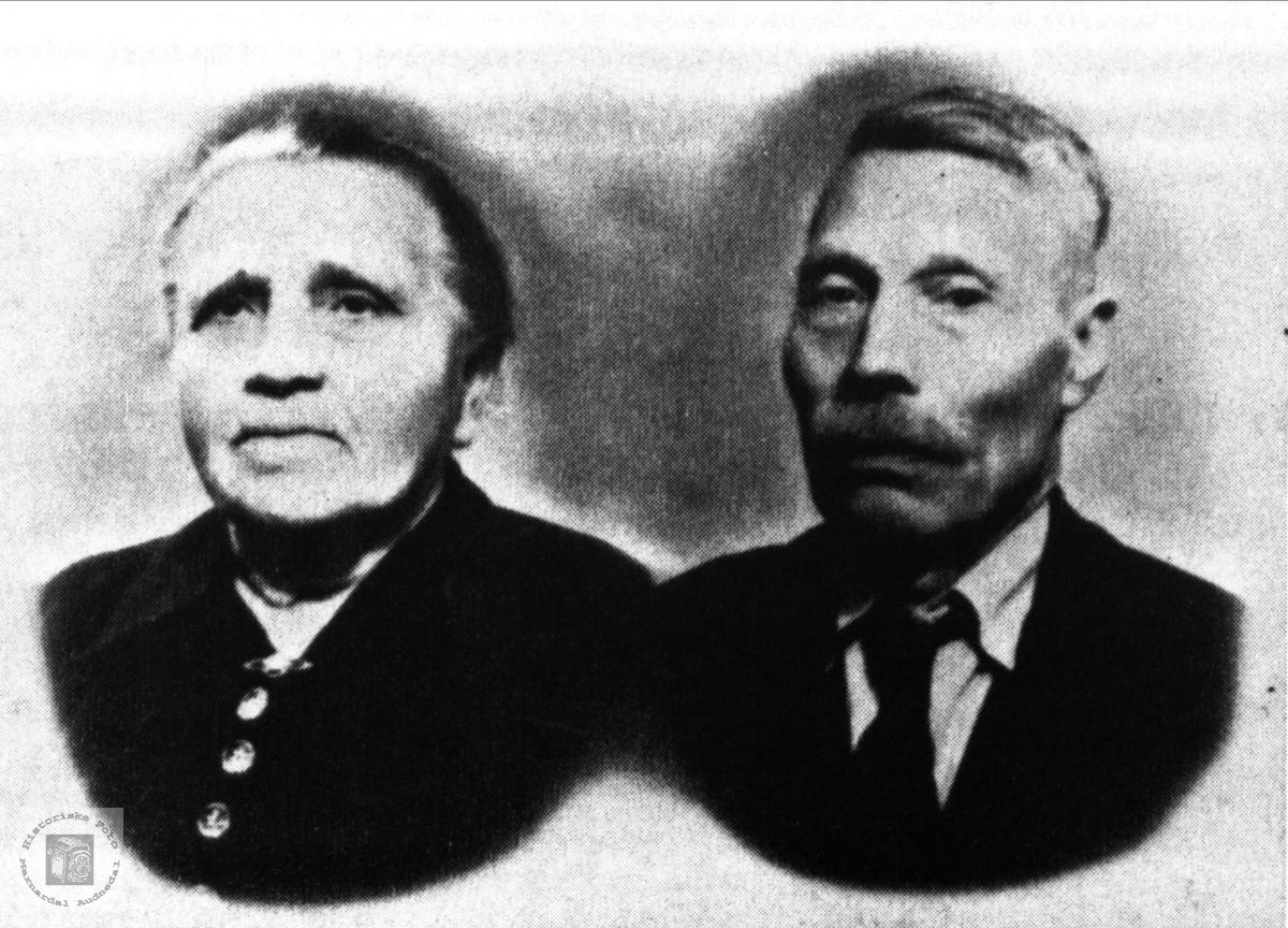 Ekteparet Aslaug og Peder Valebrok, Bjelland.