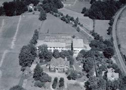 Flygfoto över en gården Ellebo  i Torsås.